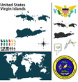United States Virgin Islands map vector image vector image