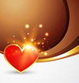 valentine day heart vector image vector image