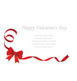 valentines day and bridal card template vector image