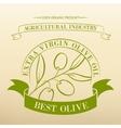 Vintage olive oil label vector image vector image