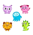 Cartoon cute monsters vector image