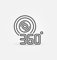 360 degree video camera outline icon vector image vector image