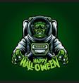 astronaut franky happy halloween vector image vector image