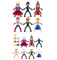 Avatar superheroes isolated objects vector image