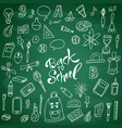 back to shool design elements hand drawn clipart vector image vector image