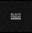 black friday sale web banner on binary code vector image vector image