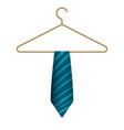 blue tie on hanger icon cartoon style vector image