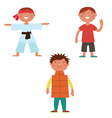 Boys characters vector image vector image