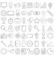 busies icons line vector image