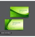Business Card template set 048 green curve element vector image vector image