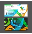 business card template with people icon vector image vector image