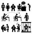 business office workplace situation boss manager vector image vector image