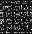 cat faces seamless pattern for your design vector image vector image