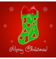 Christmas Greeting Card Merry Christmas text vector image