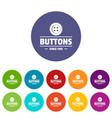 clothes button dressmaking icons set color vector image vector image