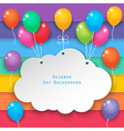 clouds and rainbow sky background vector image vector image