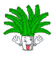 crazy fresh fern branch isolated on mascot vector image