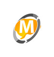 creative thinking letter m vector image