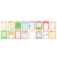 daily note planners weekly scheduler to do list vector image