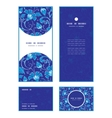 dark blue turkish floral vertical frame vector image vector image
