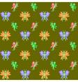 Design seamless butterflies pattern vector image
