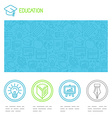 educational design template vector image vector image