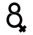 eight number shaped female gender symbol vector image vector image