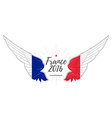 european championship 2016 abstract wing vector image