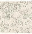 Floral texture with roses and leaves vector image vector image