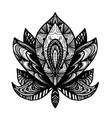 flower lotus tattoo vector image vector image