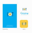 food company logo app icon and splash page design vector image vector image