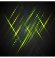 Green shiny light on dark background vector image vector image