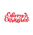 happy christmas red vintage calligraphy text vector image