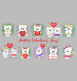 happy valentine s day mega set of twelve vector image vector image