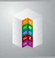 isometric square info graphics vector image