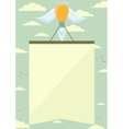 Lamp Rocket with Wings Lifting the Poster in the vector image vector image