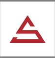 letter s triangle logo color red web vector image