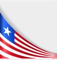 liberian flag background vector image vector image