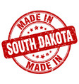 made in south dakota red grunge round stamp vector image vector image
