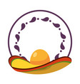 mexican mariachi hat vector image