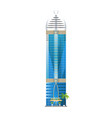 modern hotel building skyscrapers towers vector image vector image