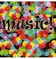 Musical bright background A vector image vector image