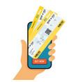 online booking ticked buy ticket vector image