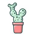 opuntia cactus icon cartoon style vector image vector image