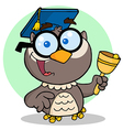 Owl Teacher Cartoon Character vector image vector image