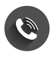 phone icon contact support service sign vector image
