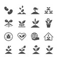 plant and sprout icons icon design vector image vector image