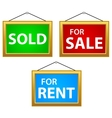 Property Signs vector image