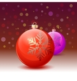 red christmas ball over white background vector image