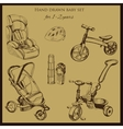 retro hand drawn baby set for 1-2 years old vector image vector image